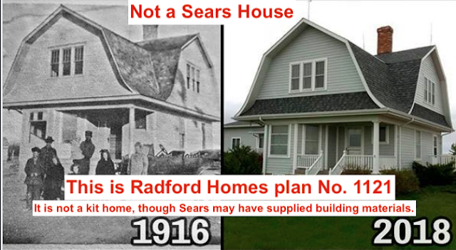 image of a gambrel roof dutch style house that everyone thinks is a Sears house, but is a Radford house--mistaken ID