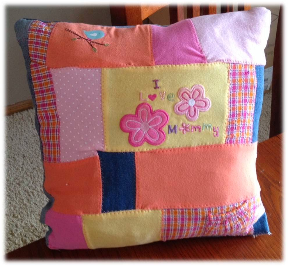Remember our loved ones memorial ideas prayer pillow for Things to make out of a loved one s clothing