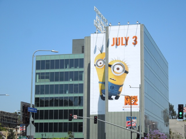Giant Despicable Me 2 billboard