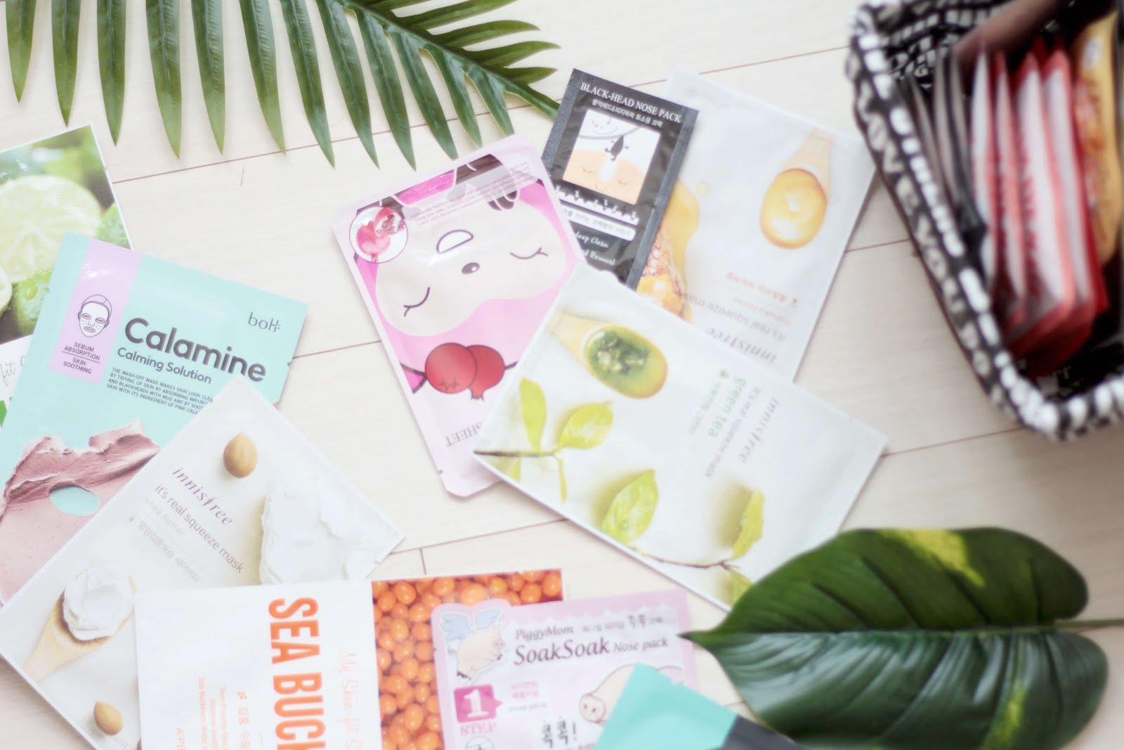 korean skincare blogger sheet masks kbeauty recommendations brands