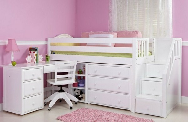 Bunk Bed With Stairs With Drawers