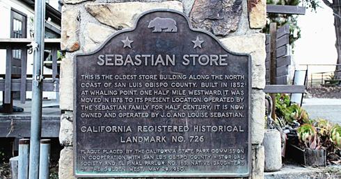 sebastian store san simeon pier california coast