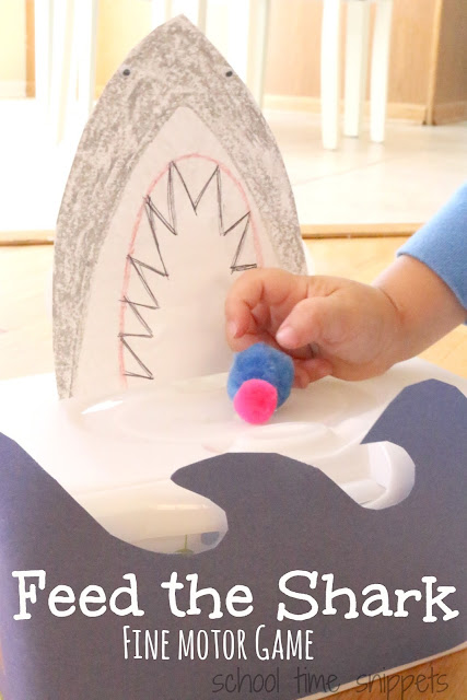 feed the shark fine motor game