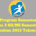 Program Semester Kelas 3 SD/MI Semester 2 Kurikulum 2013 Tahun 2019