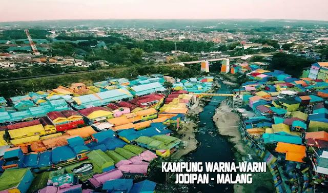 Kampung Warna-Warni Tridi (3D) Jodipan Malang Terbaru 2017