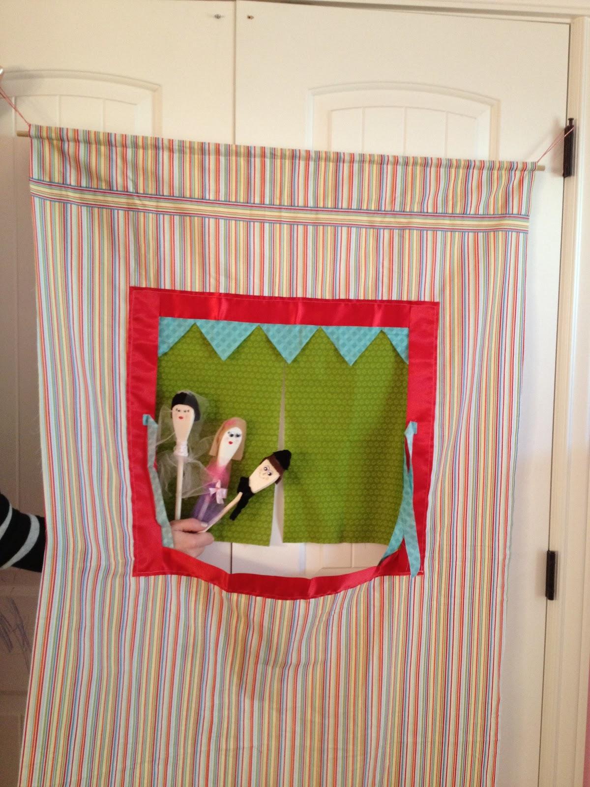 puppet tent - A girl and a glue gun