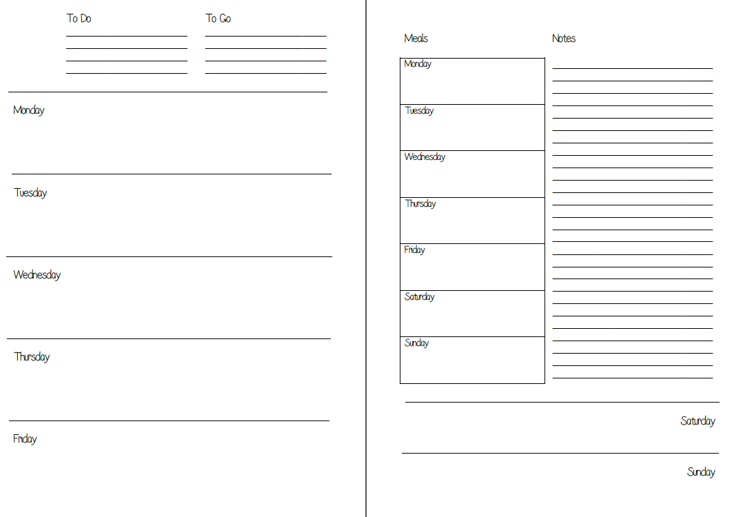 Mswenduhh Planning Printable Free Printable Inserts