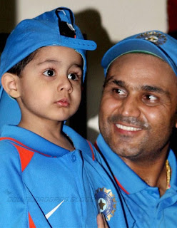 Virender Sehwag And His Son Aryaveer