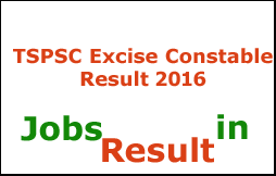 TSPSC Excise Constable Result 2016