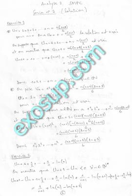 Analyse serie Corrigés SMPC S1 Marrakech