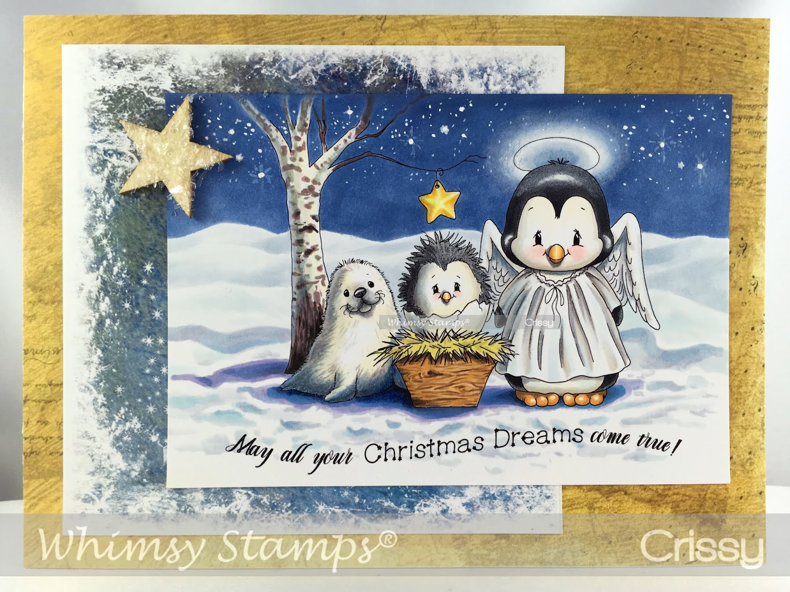 I have another newly released image to show off today, this is Penguin  Nativity and it is available in the digital section at Whimsy!