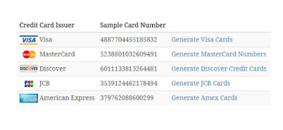 Free Credit Cards Sample