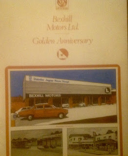 Bexhill Motors Ltd Golden Anniversary booklet cover