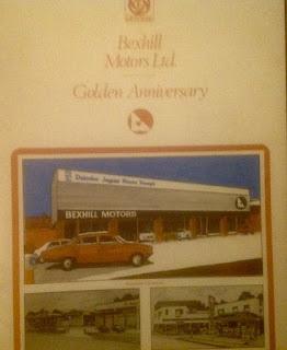 Bexhill Motors Ltd Golden Anniversary booklet cover