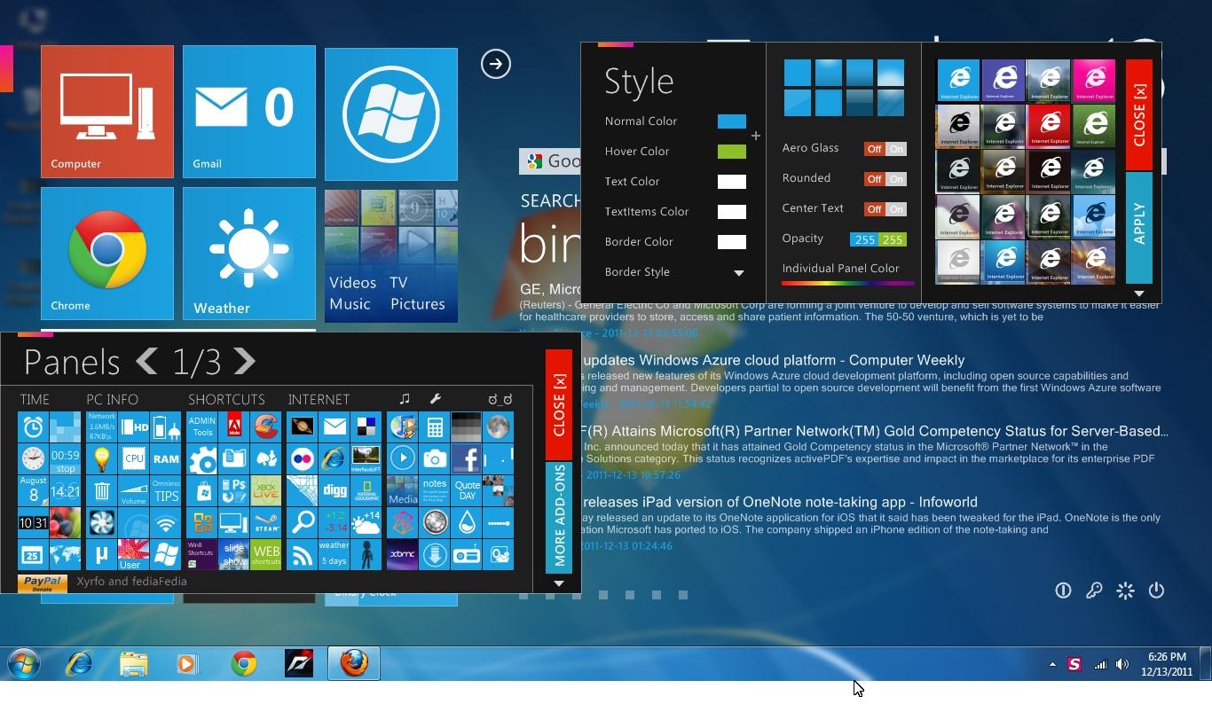 Tips and Tricks: OMNIMO UI Change Windows 7 Desktop Like Windows Phone