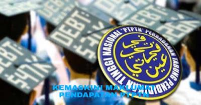 Kemaskini Maklumat Pendapatan PTPTN Untuk Penangguhan Balik