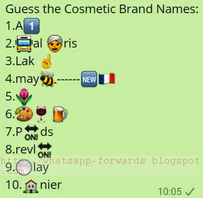 Guess the Cosmetic Brand Names