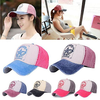 Fashionable Colour Matching Letter Pattern Baseball Cap For Women - WINE RED