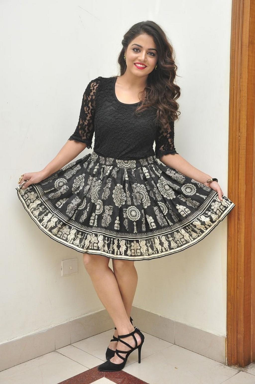 Tollywood Actress Wamiqa Gabbi Hot Legs Show Photos In Mini Black Skirt
