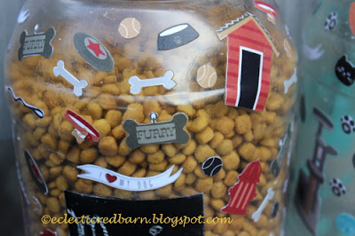decorated dog food container