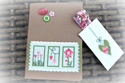 cuaderno, cahier, bordado, broderie, embroidery, punto cruz, cross stitch, point croix, primavera, spring, printemps
