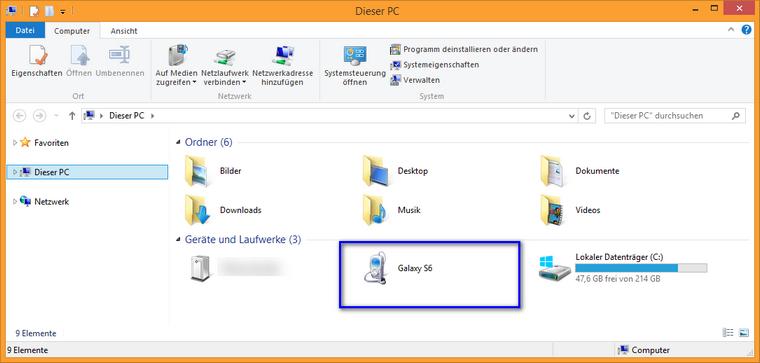 desktop ansicht ändern