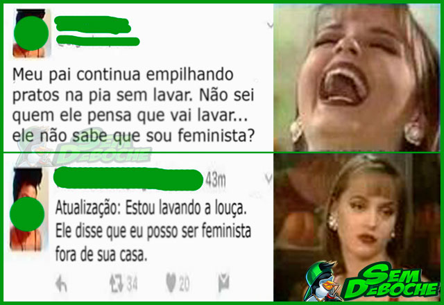 FEMINISTA DA PORTA PRA FORA