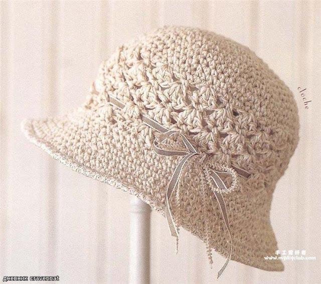 Patrón #860:  Sombrero a Ganchillo