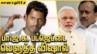 Vishal in full swing over BJP | Union Budget 2018