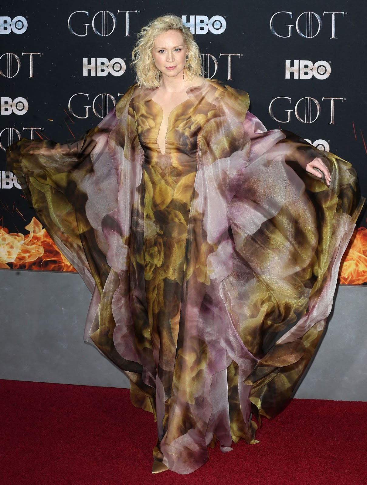 Gwendoline Christie Wears Iris van Herpen to the Game of Thrones Season 8 Premiere