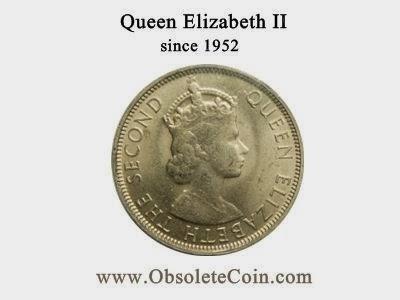 Malaya & British Borneo Queen Elizabeth II coins - Obsolete coin