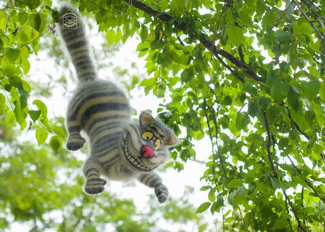 Cheshire cat, кот, Чешир, Алиса в стране чудес, handmade, сказочные персонажи, герои фильмов, ингрушка, авторская игрушка, игрушка ручной работы, мурико,  хенд мейд, своими руками, интерьерная игрушка, для детей, подарок