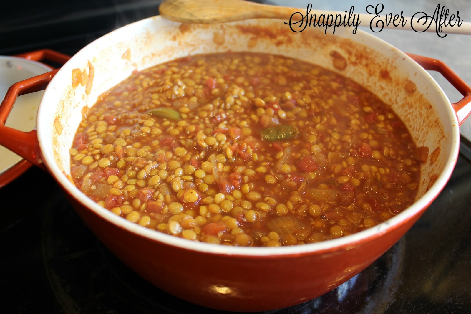 Snappily Ever After: Simple Lentil Chili