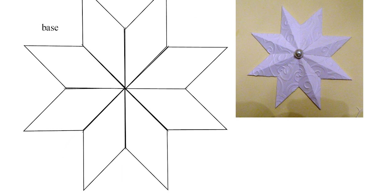 Laura's Frayed Knot: 8 Pointed Paper Star Christmas Ornament