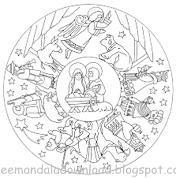 Spiritual Mandala kostenlos Malvorlagen | Free Mandala Download