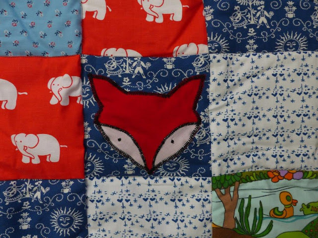Krabbeldecke Babydecke Patchwork Geburt Geschenk nähen selbstgemacht DIY Füchse Westfalenstoffe