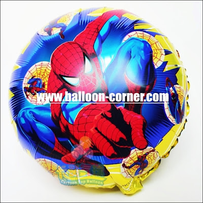 Balon Foil Bulat SPIDERMAN
