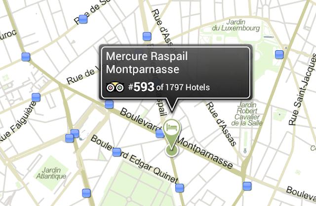Estações de Metro e RER próximas ao Mercure Raspail  (Fonte: Trip Advisor)