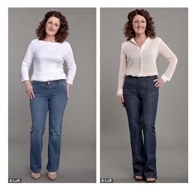 Прямые джинсы и джинсы клеш на фигуре груша