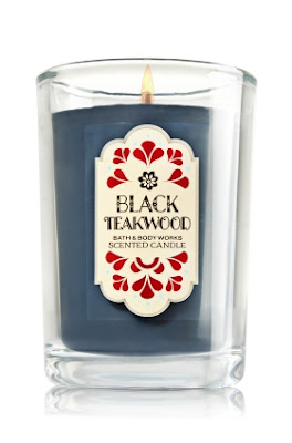 Black Teakwood Bath & Body Works Scented Candle