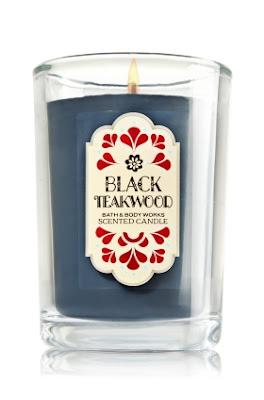 Black Teakwood Bath & Body Works Scented Candle