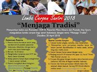 """[Gratis] Lomba Menulis Cerpen Nasional """"Santri"""" 2018, Hadiah 2,250 Jt"""