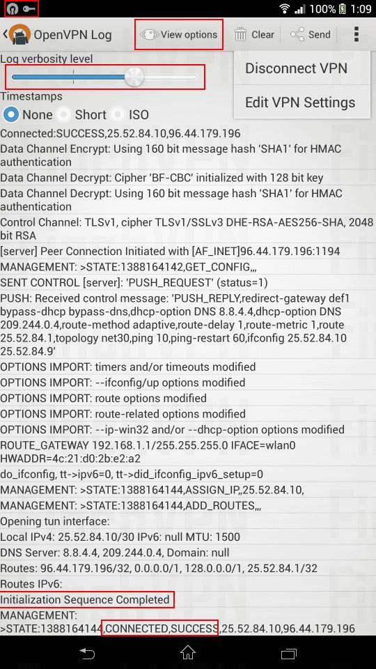 open vpn android app import open vpn config files success