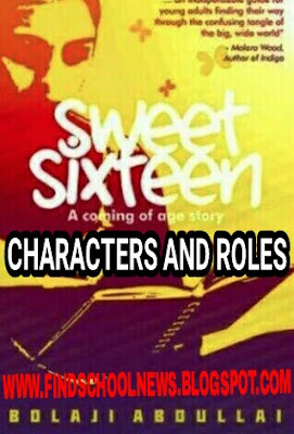 The Characters and the role in jamb sweet sixteen novel photo