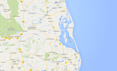 Pulicat Lake Map