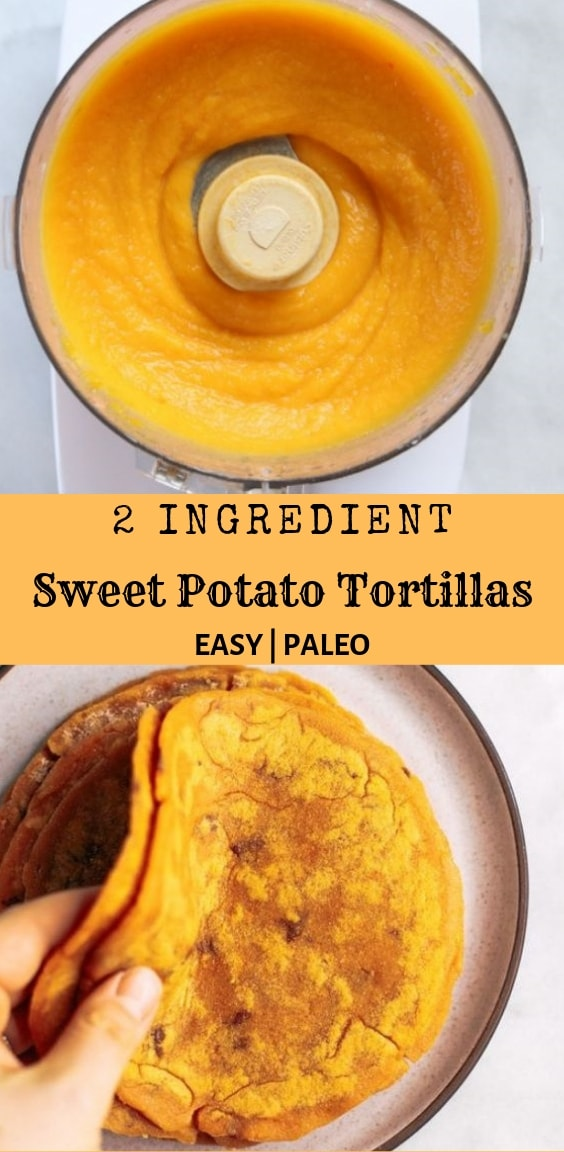 2 Ingredient Sweet Potato Tortillas