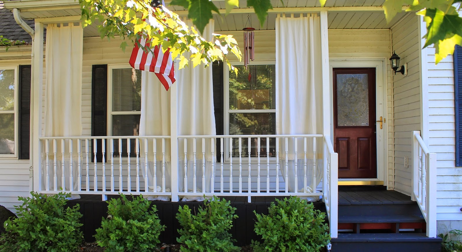 How To Make Inexpensive Curtain Rods For Your Front Porch Simple Suburban Living