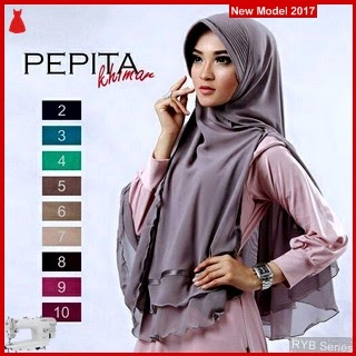 RYB038B Hijab Jilbab Cantik Khimar Murah Pepita BMG Online Shop