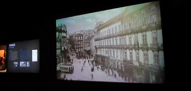 Imagens antigas  da cidade do Porto no Museu do FC Porto