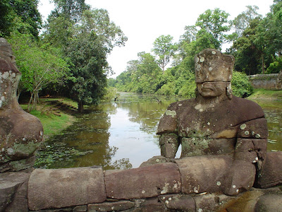 Sculptures at Angkor Wat - Cambodia